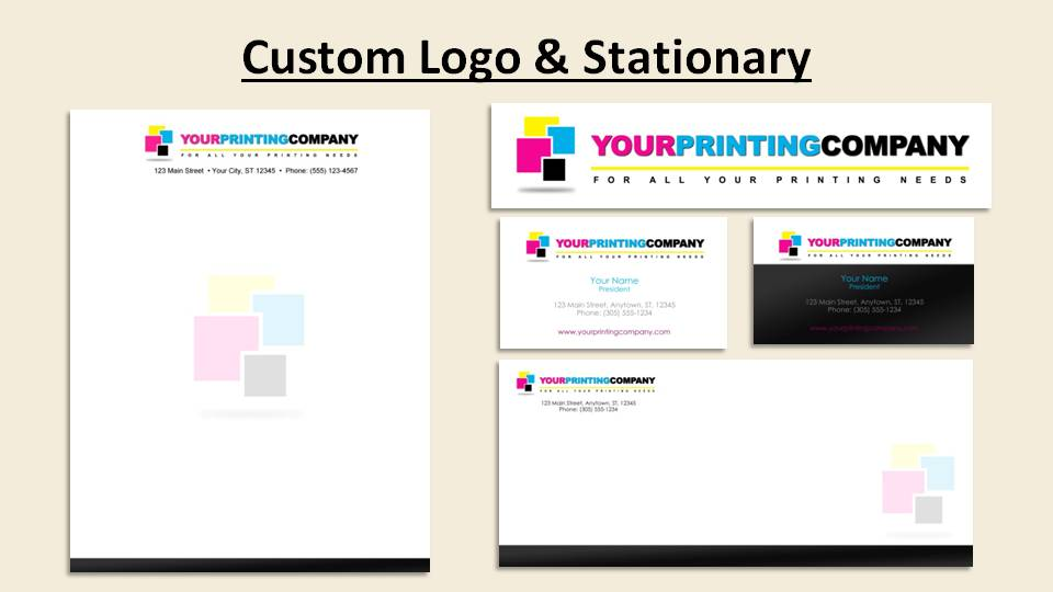 Fully Customizable Logo With Letterhead Envelope Business Card Art
